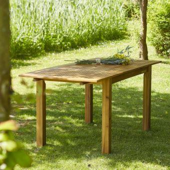 Table de jardin en bois d\'acacia FSC avec rallonge 6 à 8 places