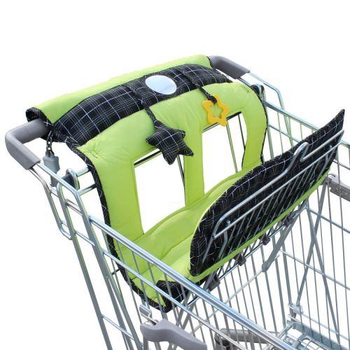 Protège Siège Chariot pour bébé enfant + jouets - Vert