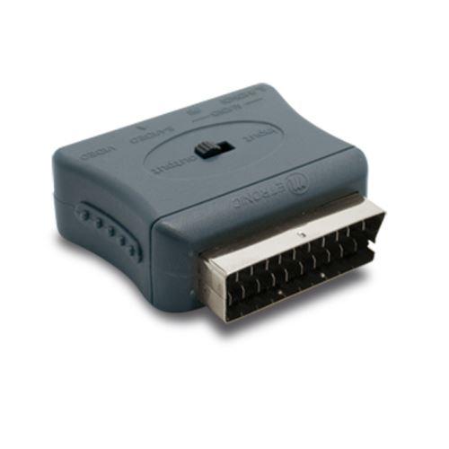 Adaptateur péritel mâle 3x RCA fem. + S-vidéo (Y/C) fem. METRONIC 475009 gris