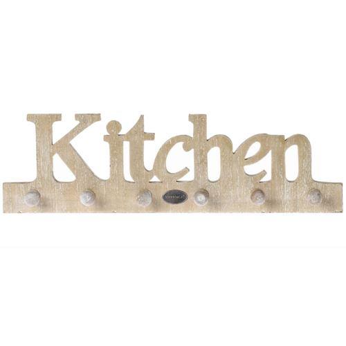 Patère 6 supports cuisine en bois