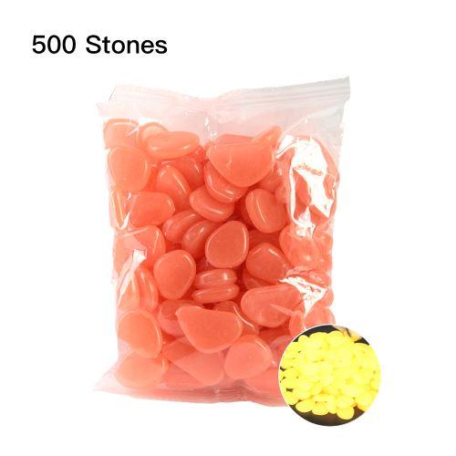 Blusea 500 pcs lumineux cailloux lueur dans les pierres sombres maison réservoir de poissons décor extérieur jardin passerelle