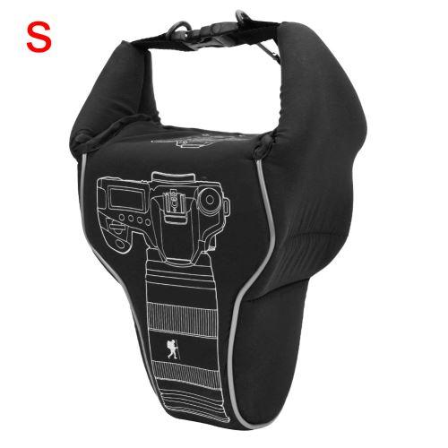 Sac anti-collision étanche en nylon pour appareil photo SLR Noir S