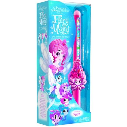 Of Dragons Fairies and Wizards Fairy Fern Hand Held Wand Pink