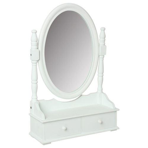 Miroir range bijoux 2 tiroirs blanc Atmosphera