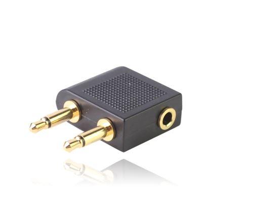 (#1) Airplane Headphone Socket Adaptor(Black)