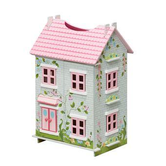 teamson kids maison de poup es en bois de cottage de conte de f es pour les poup es maison de. Black Bedroom Furniture Sets. Home Design Ideas