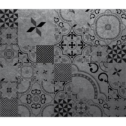 Crédence adhésive en alu imitation Métal - L. 20 x l. 20 cm - Noir - Design CPM - Métal