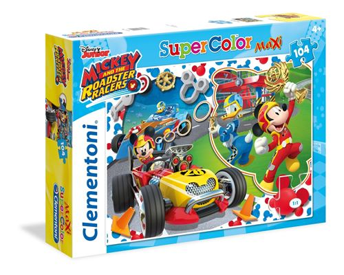 Clementoni puzzle Mickey Mouse Racers 104 pièces