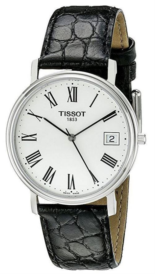 Montre Cuir Bracelet À T52142113 Homme Noir Desire Tissot J5FuTlK31c