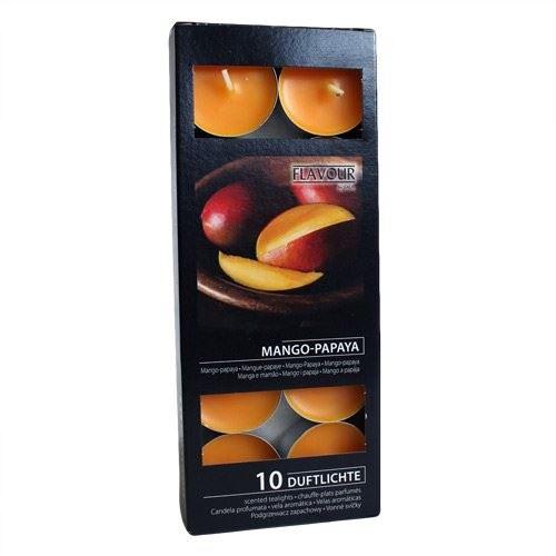 Bougies veilleuses parfumées - Boîte de 10 Mangue & Papaye