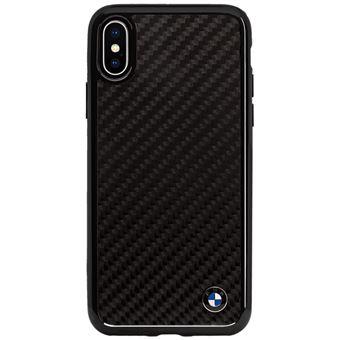 BMW Signature Coque en fibre de carbone veritable pour Apple iPhone X Noir