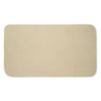 interdesign idry tapis de bain tapis antidrapant microfibre polyester extra large salle de bain wc tapis bain absorbant schage rapide beige achat - Tapis De Bain Antiderapant