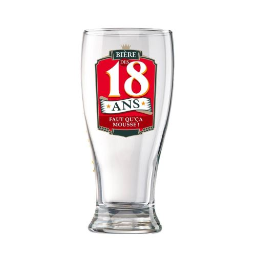 Verre à Bière en Coffret - 18 Ans