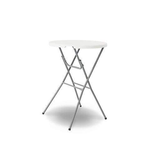 Table haute de réception – GALA – Mange debout. pliable. Ø80cm x 110cm