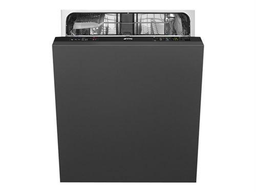 Smeg STL22124FR - Lave-vaisselle - intégrable - Niche - largeur : 60 cm - profondeur : 57.5 cm - hauteur : 82 cm - noir