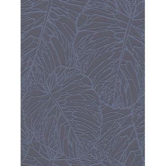 Papier Peint De Modele De Feuille Gris Fonce Et Etain Rasch 609318