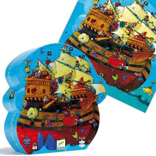 Puzzle Djeco Silhouette Le Bateau De Pirates 54 Pieces 5 Ans +