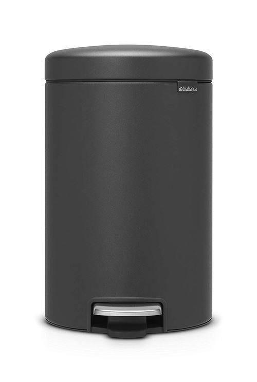 Brabantia Poubelle à Pédale NewIcon Sense of Luxury,12 litres - Gris