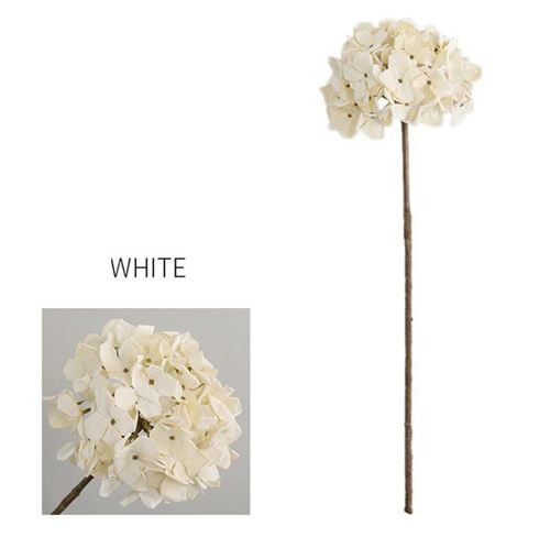 Simulation de mariée bouquet d'hortensia soie d'arachide fleur feuille propre décoration de fête de mariage-blanc-shenghuajie