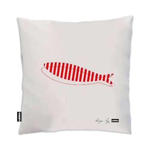 Lona - Coussin 100% coton 50 cm Poisson Poisson rouge