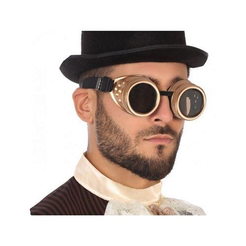 Lunettes steampunk cuivre doré - Accessoire de déguisement - Achat ...