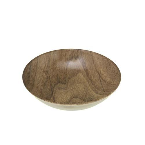 Secret de Gourmet - Assiette creuse design bois Mood - Diam. 20 cm - Marron - Natural Mood