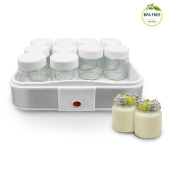Leogreen Yaourtiere Machine Pour Yaourt Fait Maison 12 Pots 30 6 X 25 X 12 4 Cm Blanc Capacite Par Pot 0 21 L Yaourtiere Achat Prix Fnac