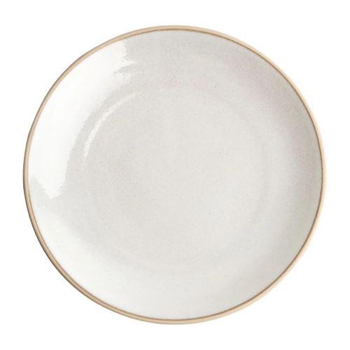 Assiette Coupe Restaurant 27 cm - 6 Couleurs - x 6 - Olympia Canvas - Blanc MuranoGrès