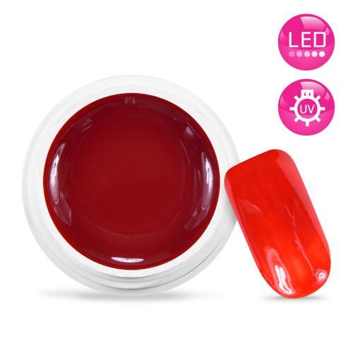Gel UV / LED Couleur Rouge Orangé - 5 ml