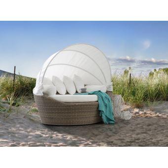 Beliani - Salon de jardin - Salon de plage - Panier en rotin marron clair -  Sylt