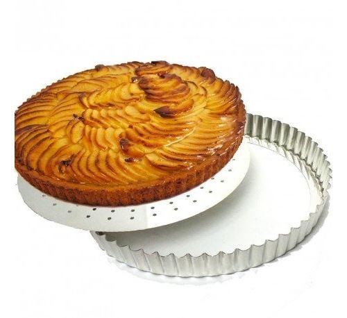 Gobel - moule à tarte cannelé fond perforé amovible 24 cm 126431