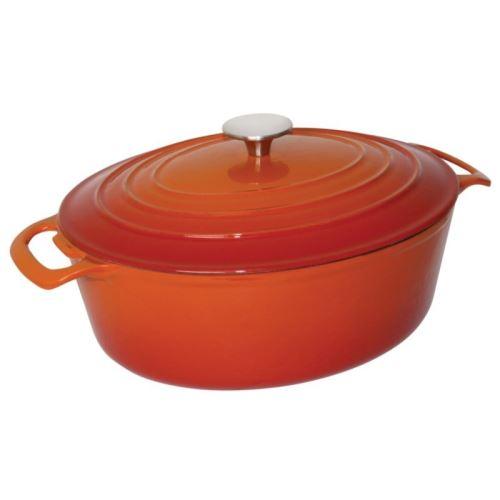 Grande cocotte ovale orange vogue 6l