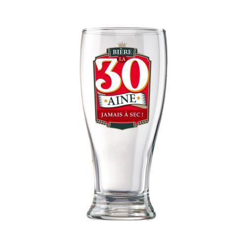 Verre à Bière en Coffret - 30 Ans