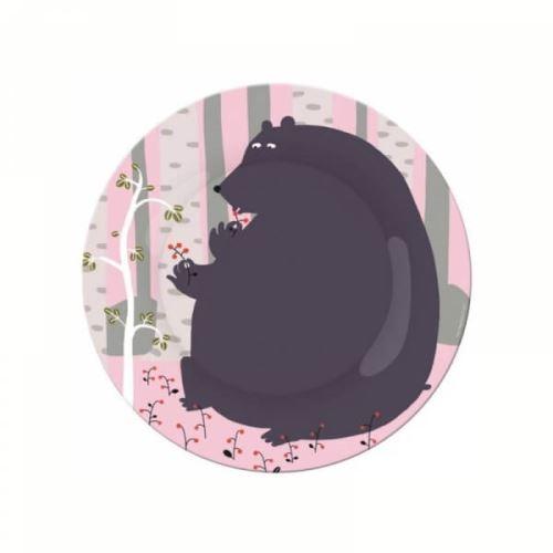 Assiette ours à table en forêt - petit jour paris