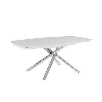 Table A Manger Extensible Camelia 6 A 8 Couverts Verre