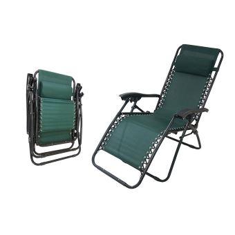 Todeco - Chaise Longue Inclinable, Transat en Textilène de ...