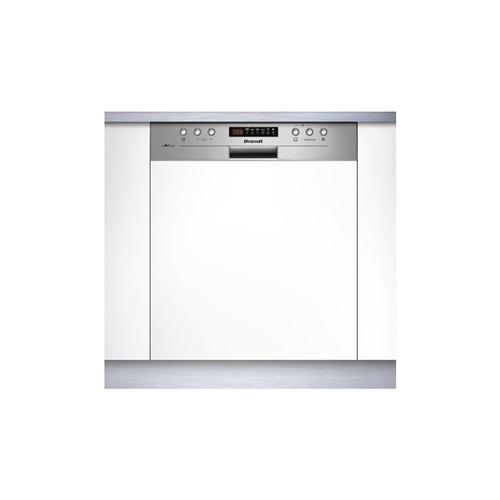 Brandt Vh15x - Lave Vaisselle Encastrable - 13 Couverts - Silencieux 44 Db - A++ - Larg 60 Cm - Bandeau Inox