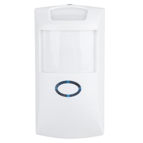 Capteur de mouvement, Détecteur de mouvement infrarouge à 110 ° Conception étanche à piles pour familles