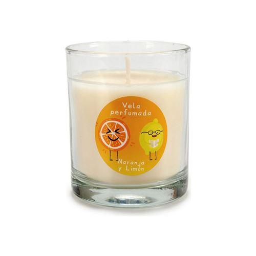 bougie parfumée citron orange