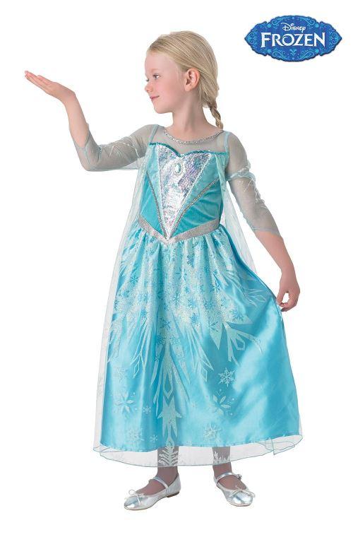 La Reine des Neiges Déguisement Elsa 5-6 ans. Robe + Cape