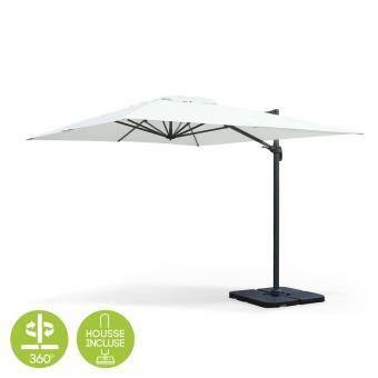 40 sur parasol d port rectangulaire st jean de luz 3x4m haut de gamme ecru excentr. Black Bedroom Furniture Sets. Home Design Ideas