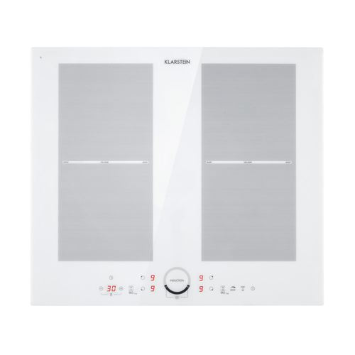 Klarstein Delicatessa 60 Table de cuisson à induction encastrable en vitrocéramique - 4 zones modulables - 7000W - Noir