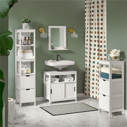 SoBuy® FRG126-W Meubles de rangement de Salle de Bain Haute-blanc