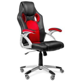 Chaise De Bureau Racing Fauteuil Sport Gaming Pivotant Rouge