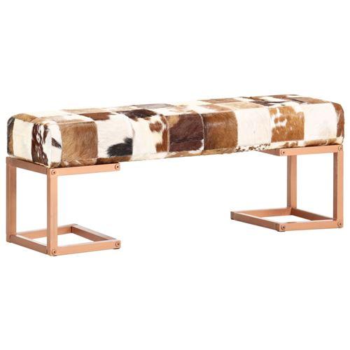 Chunhe Banc 110 cm Marron Patchwork Cuir véritable de chèvre AB283752