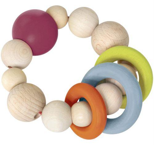 Selecta Spielzeug anneau de préhension junior 9 cm bois naturel