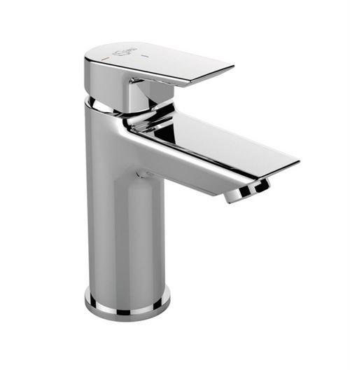 Ideal Standard - Mitigeur lavabo Tesi sans tirette ni vidage chromé bec fixe