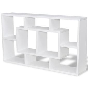 Vidaxl étagère Murale Avec 8 Compartiments Blanc