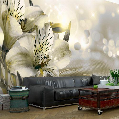 150x105 Papier peint Lilies Fleurs Moderne Green Daybreak