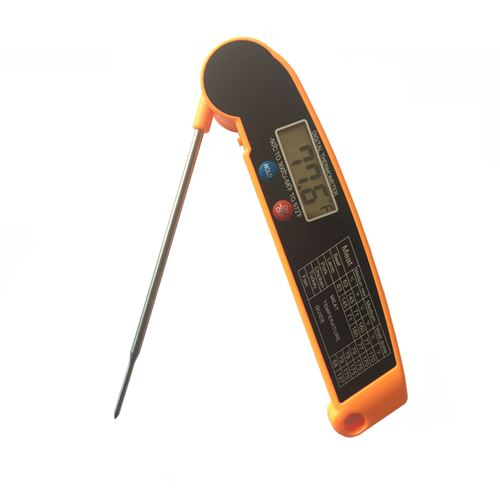 Thermomètre à barbecue Huile de sonde électronique Pliant-Orange